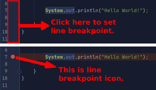 1 set line breakpoint