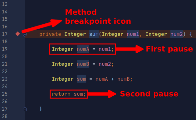 2 set method breakpoint